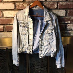 Jackets & Blazers - Acid wash denim jacket
